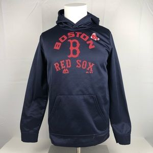Majestic Navy Blue Athletic Boston Red Sox Hoodie